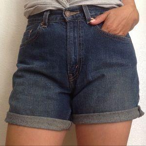 Vintage Levi's high waisted cutoff denim shorts